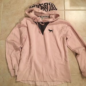 Pink Victoria secret sweat shirt with hoot